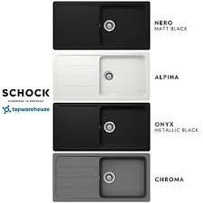 Schock Formhaus Granite Composite Kitchen Sink  Single Bowl - White composite kitchen sinks