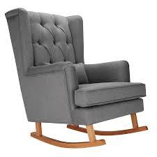 Nursing Rocking Chairs Olli Ella Ro Ki Rocker Nursing Chair Dove Grey With Natural