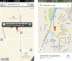 Maps Google Com Washington Dc by Comparing Apple U0027s Maps And Google Maps Tidbits