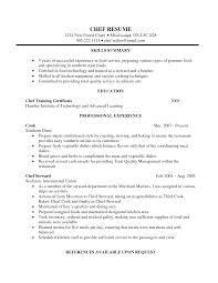 Kitchen Staff Job Description For Resume by Chef Resume Format Resume For Your Job Application