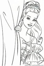 117 dessins de coloriage barbie à imprimer