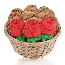 cookie gift basket roses cookie gift basket
