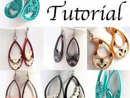 quilling earrings tutorial pdf free download paper quilled teardrop and paisley earrings tutorial meylah
