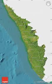 Kerala India Map by Satellite Map Of Kerala Single Color Outside