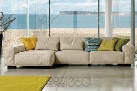 Turquoise Leather Sectional Sofa Soho Modern Leather Sectional Sofa By Gamma Arredamenti