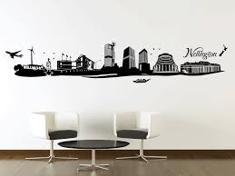 urban your decal shop nz designer wall art decals wall wellington city silhouette