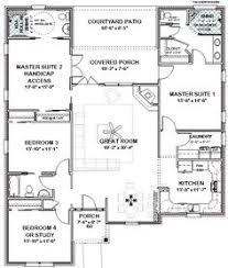 complete house plans 2306 sq ft 2 masters ada bath masters