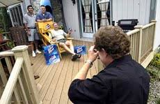 Chair With Beer Dispenser Lawrence Walsh Contest Winner Finally Has His Deck And More