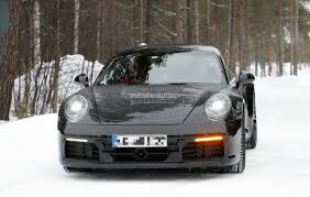 porsche family tree new porsche 911 spied with production body shows mission e and