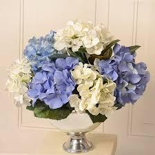 Home Floral Decor Floral Home Decor Silk Hydrangea Floral Arrangement In Bowl