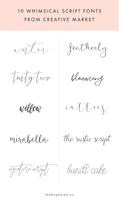 whimsical script fonts from creative market tattoo fonts script