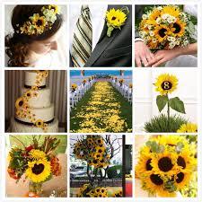 sunflower wedding ideas sunflower wedding decorations 74887 sunflower bouquet for fall