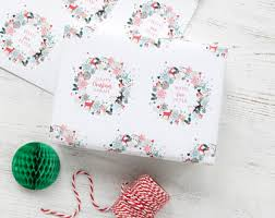 christmas gift wrap paper christmas gift wrap etsy