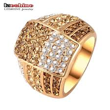 new jewelry trendy new jewellery ring gold color women rings made with genuine