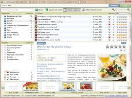 logiciel recette cuisine gratuit le collectionneur de recettes logiciel de recettes et créateur