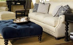 exciting rich royal blue cocktail ottoman