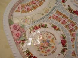 Shabby Chic Plates by Mosaic Tray Wall Decor Wall Hanging Shabby Chic Broken China Plate