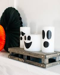 halloween decorating ideas how to make classic ghost candles