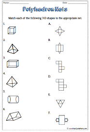 test your knowledge of 3d shapes and their nets found on