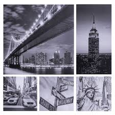 prints city print set of 5 wall art jysk canada