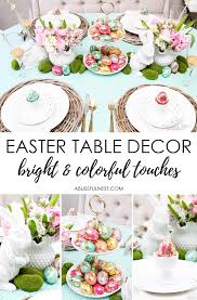 Easter Decorations For A Table by Bright U0026 Colorful Easter Table Decor Ideas With Pops Of Gold