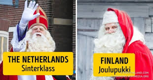 what santa claus is called in different countries around the world