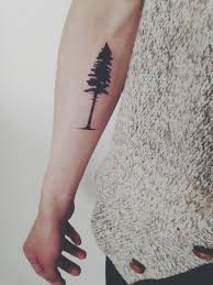 pine tree on arm tattoomagz