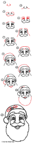 how to draw santa claus u0027s face art for kids hub