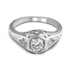 filigree engagement ring white gold antique filigree diamond engagement ring