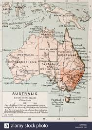 Portland Australia Map by Australia Old Map Stock Photo Royalty Free Image 50290129 Alamy