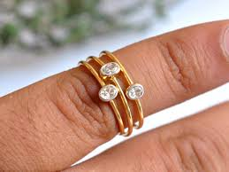 stackable engagement rings oval baby engagement rings 14k solid gold discovered