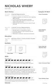 Customer Service Representative Resume Samples by Financial Representative Resume Samples Visualcv Resume Samples