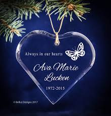 always in our hearts white butterfly engraved personalized