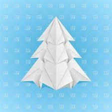 paper origami christmas tree vector image 7863 u2013 rfclipart