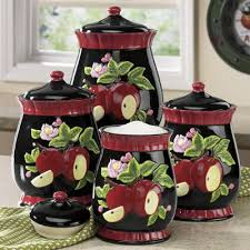 apple canisters for the kitchen 4 apple canister set from seventh avenue di706988