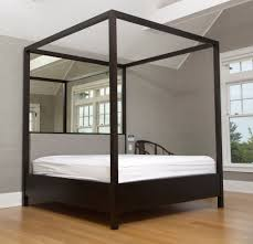 excellent mirrored four poster bed 51 in small home decoration