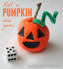 toddler approved roll a pumpkin dice game