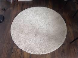 130cm beige shaggy round rug adum ikea fantastic condition