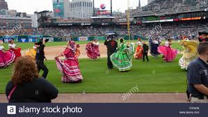Comerica Park Map Detroit Michigan Mexican Dancers Perform Before A Game On
