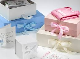 new serenity pale blue large gift boxes with ribbon from foldabox