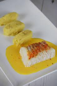 cuisiner un dos de cabillaud cabillaud cuit à basse température servie avec un beurre de mandarine