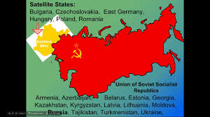 Cold War Germany Map End Of Ussr Cold War Ppt Youtube