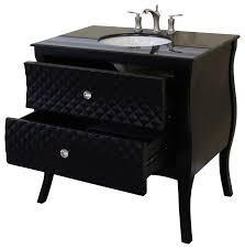 35 4 inch single sink vanity wood black white phoenix stone top