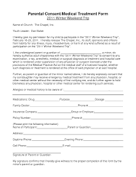 notarized medical consent form for minor bagnas parental