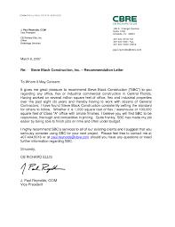 employer letter of recommendation the letter sample