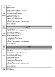 common core lesson plans printable plan template free for