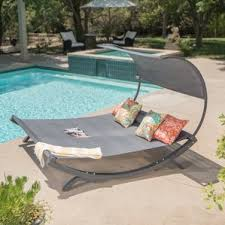 Patio Pillow Storage by Outdoor Lounge Chairs