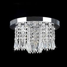 Wall Mount Chandelier Monique Chrome And Crystal Flush Mount Chandelier