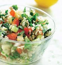cuisine salade de riz recette salade de riz façon taboulé