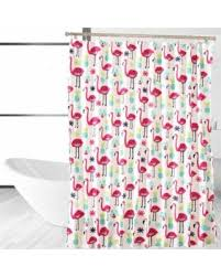 Flamingo Shower Curtains Amazing Deal On Affluence Home Fashions Fancy Flamingo Shower Curtain